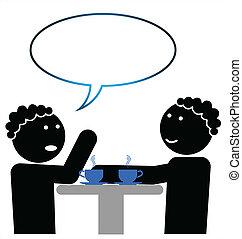 dos mujeres hablar