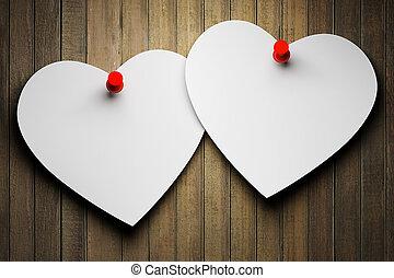 dos, papel, corazones