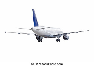 dos, paquebot, blanc, jet, vue, avion, arrière-plan., isolé, passager