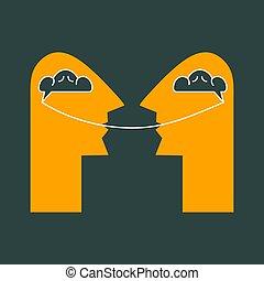dos personas, hablar