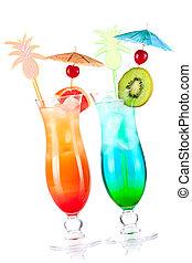 dos, tropical, alcohol, cócteles