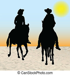 dos, vaqueros