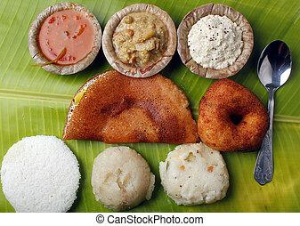 dosa, upma, sambar, chutney, idly, masala, vada