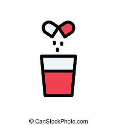 dose flat color icon