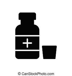 dose glyph flat icon