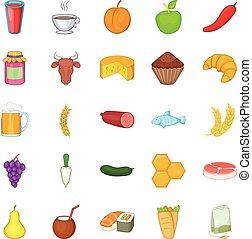 Dose icons set, cartoon style