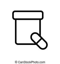 dose thin line icon