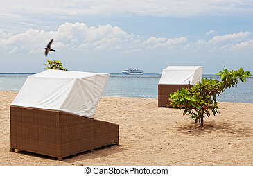 doseles, sol, playa, trópicos