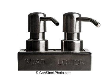 dosificador, jabón, loción