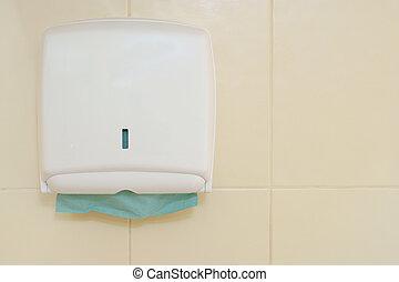 dosificador, toalla de papel