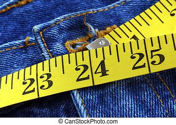 doskonały, 24, talia, cale, dama, rozmiar
