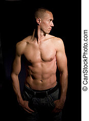 doskonały, ciało, samiec