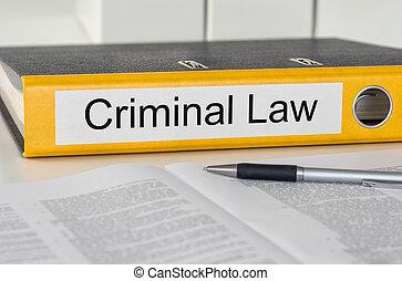dossier, à, les, étiquette, criminel, droit & loi