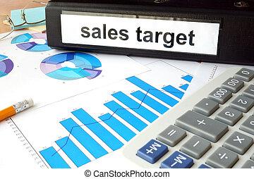 dossier, à, les, étiquette, ventes, cible