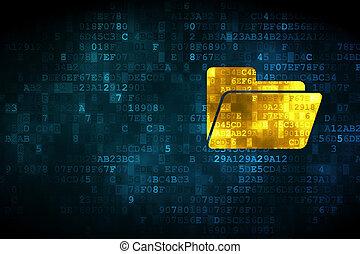 dossier, concept:, fond, business, numérique