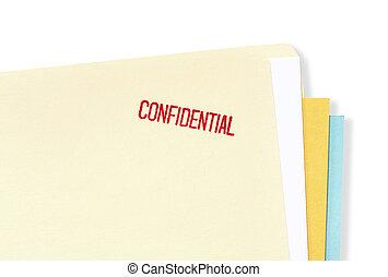 dossier, confidentiel, fichier
