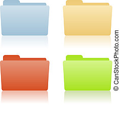 dossier, endroit, fichier, étiquette