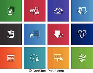 dossier het delen, iconen