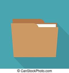 dossier, illustration, vecteur, icon-, documents