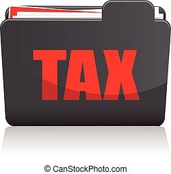 dossier, impôt