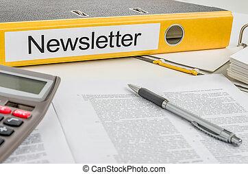 dossier, newsletter, étiquette