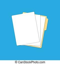 dossier, papier, listes