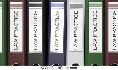 dossiers, étiquettes, multiple, bureau, texte, pratique,...