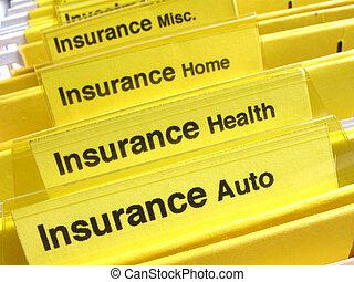 dossiers, assurance