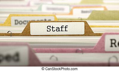 dossiers, catalog., concept., personnel