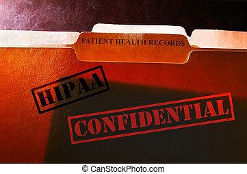 dossiers, disques, santé, confidentiel
