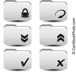 dossiers, flèches, envoyer un fichier par transfert de données en une ordinateur, reload, vecteur, téléchargement