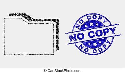dossiers, gratté, non, timbre, vecteur, copie, pixel, icône