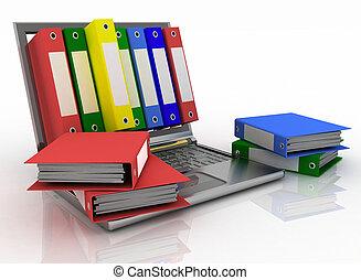 Dossiers, résumé,  documents, informatique,  image