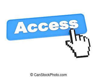 dostęp, media, -, button., towarzyski
