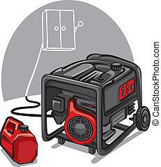 dostarczcie energii elektrycznej generator