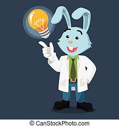 dostay, profesor, idea, królik