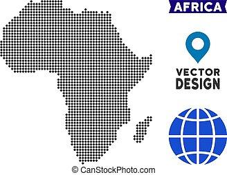 Dot Africa Map