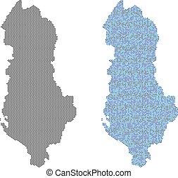 Dot Albania Map Abstractions