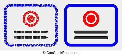 Dot and Flat Vector Certificate Icon