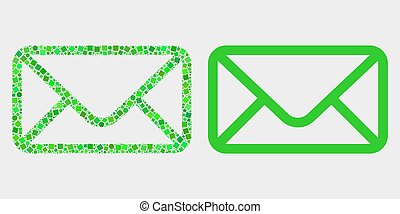 Dot and Flat Vector Envelope Icon