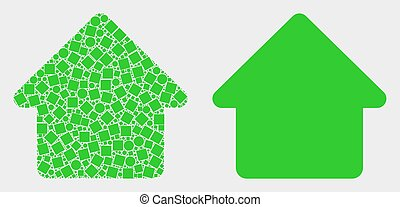 Dot and Flat Vector Home Icon