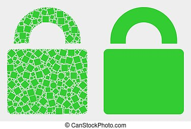 Dot and Flat Vector Lock Icon