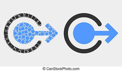 Dot and Flat Vector Logout Icon
