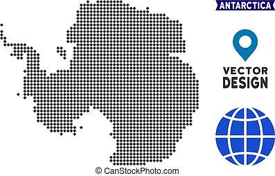 Dot Antarctica Map