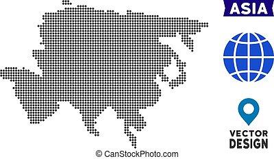 Dot Asia Map