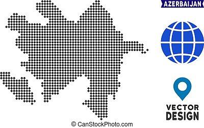 Dot Azerbaijan Map