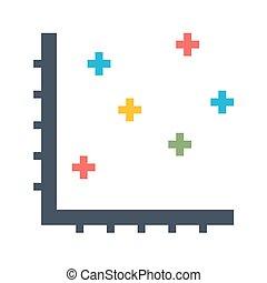 Dot Chart Vector Icon