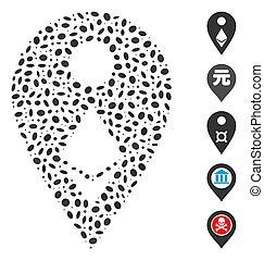 Dot Collage Ethereum Map Marker