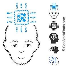 Dot Collage Neural Computer Interface