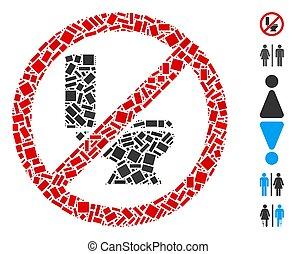 Dot Collage No Toilet Bowl
